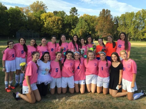 Girls Varsity Soccer Wears Pink Jerseys to Raise Awareness for Breast Cancer