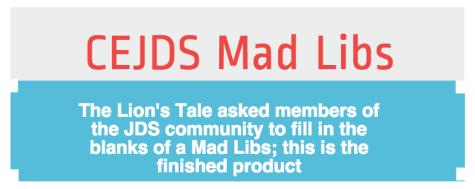 CESJDS Mad Libs