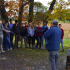 Seniors listen to a tour guide in front of the memorial for Mississippi's 11th Infantry Regiment.