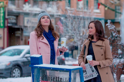 "Lorelai and Rory in ""Winter,"" the first episode of ""Gilmore Girls: A Year in the Life."""