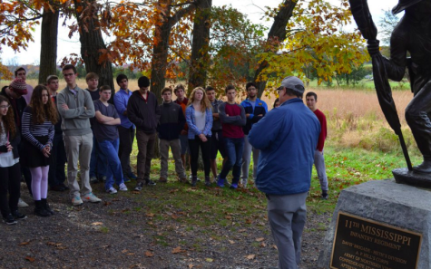 War and Civilization class visits Gettysburg Battlefield