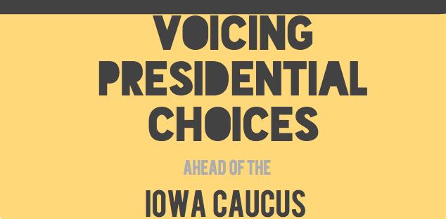 Students voice their presidential choices ahead of the Iowa Caucus