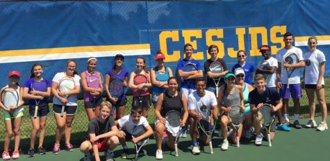 Serving Israel: Tennis team practices with Israeli youth organization