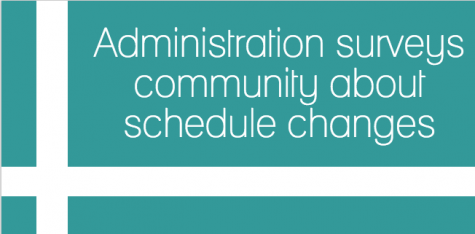 Administration surveys community about schedule changes