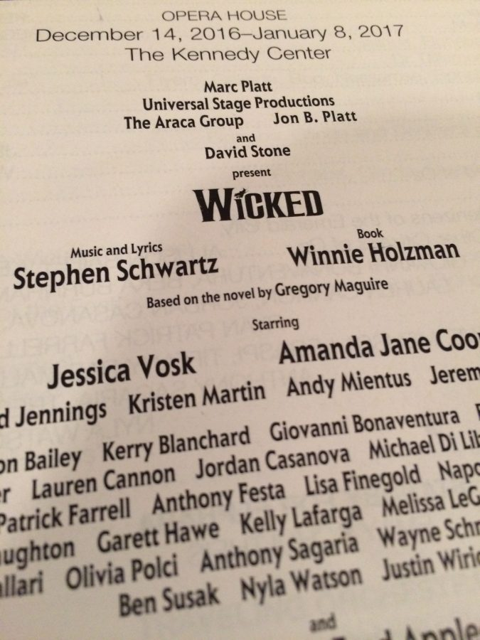 The+playbill+for+%22Wicked.%22+