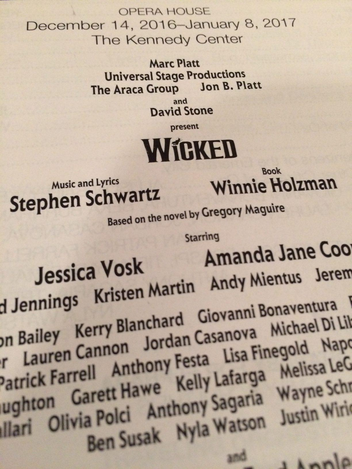 The playbill for