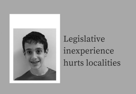 Legislative inexperience hurts localities