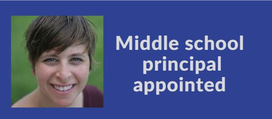 Middle school  principal appointed