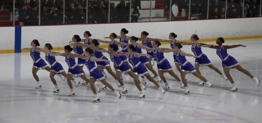 Junior Allie Ravitz performs with her synchronized skating team, DC Edge. Ravitz and her team have competed at many national competitions including the Eastern Sectionals and the Cape Cod Classics.