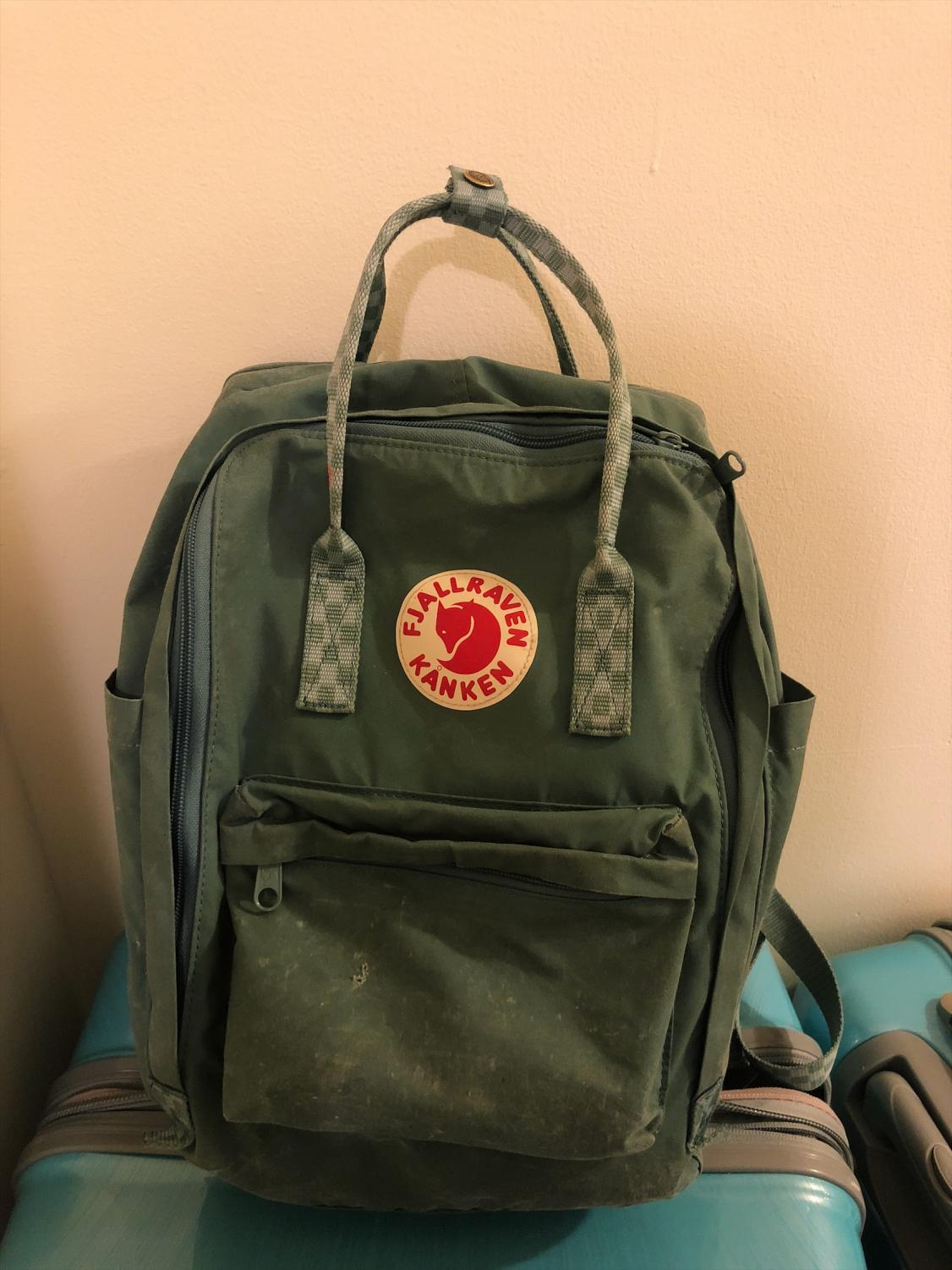 Fjallraven Kanken backpacks come in a variety of colors, but are universally a smaller size than many backpacks.