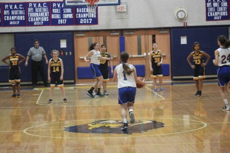 Middle school girls basketball defeats Kendall