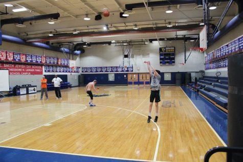 Boys varsity basketball  team works overtime in offseason