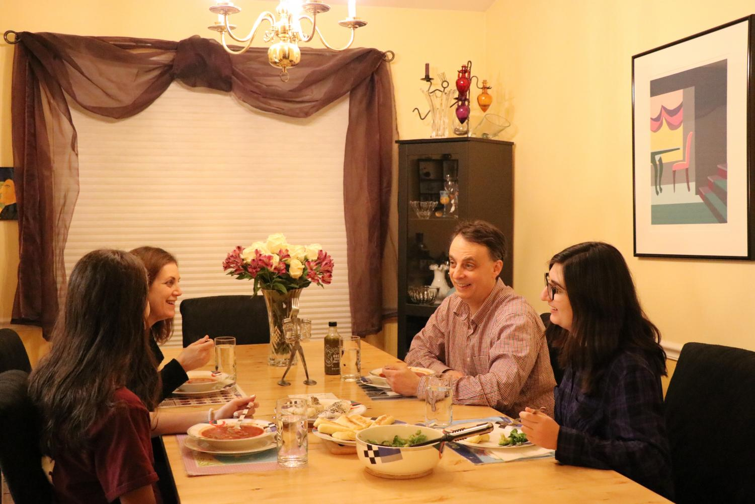 In-Depth editor Sara Sporkin sits down each night at dinner to eat with her family, a time she has come to value.