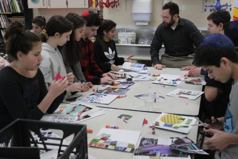Middle school students work on their art projects in Art and Design, one of their six elective options.