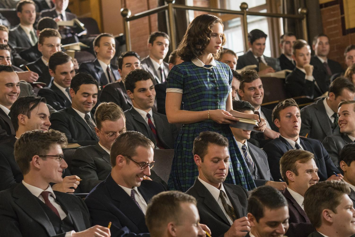 The role of Ruth Bader Ginsburg, played by Felicity Jones was one of few women at Harvard Law School.