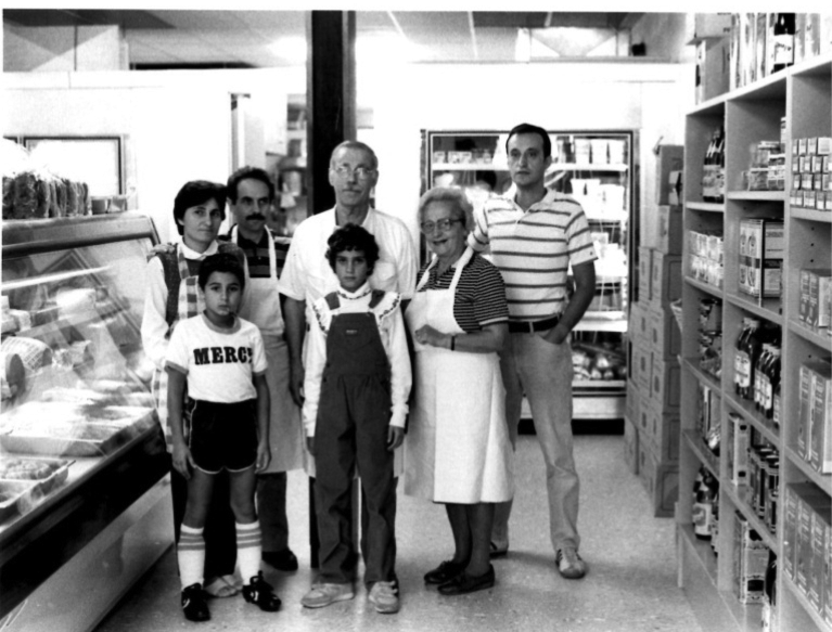 The+Vignola+family+is+pictured+above+in+1982+in+their+original+restaurant+in+downtown+Rockville.+The+family+has+run+their+restaurant%2C+catering+business+and+market+since+this+picture+was+taken.