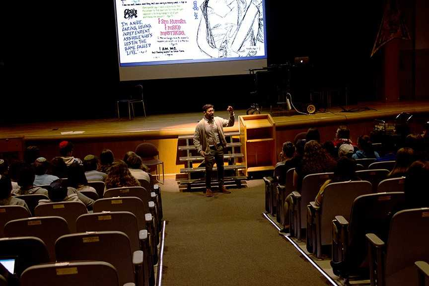 HIV+and+AIDS+speaker%2C+author+and+activist+Scott+Fried+spoke+to+high+school+students+this+past+Monday.