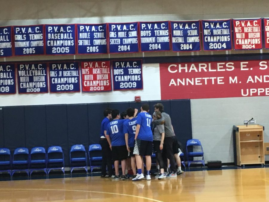 The+boys+varsity+volleyball+team%2C+largely+comprised+of+new+players%2C+lost+to+the+Melvin+J.+Berman+Hebrew+Academy+Cougars+3-0+in+first+volleyball+game+of+the+season.