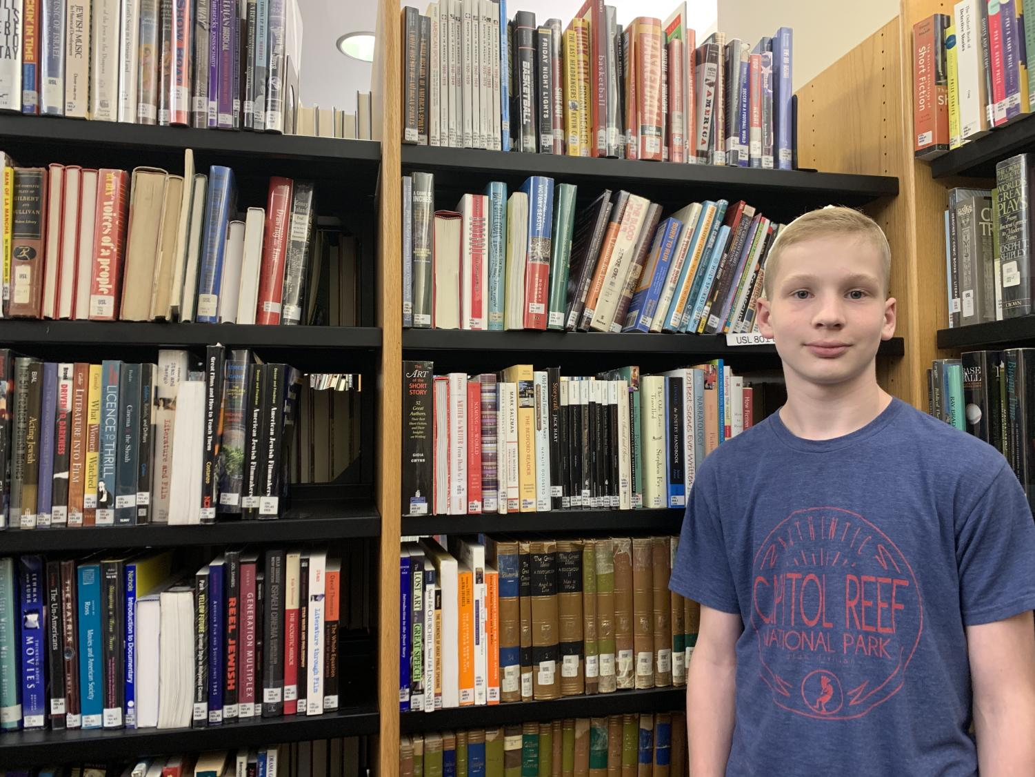 """Seventh-grader Sean Levitan, the """"Poem In Your Pocket Game"""" champion, was awarded with a 40 dollar Barnes and Noble gift certificate and two """"rhyming prizes"""" that were based on rhyming words. Levitan won because he was the only middle schooler remaining when the game ended due to time constraints."""