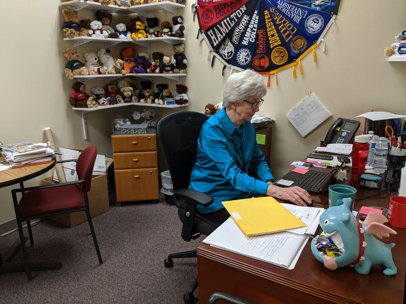 Here's a look at the daily life of a college counselor during the busy application process of the Fall.