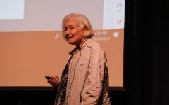 Holocaust survivor Irene Hasenberg Butter speaks to both middle, high schools