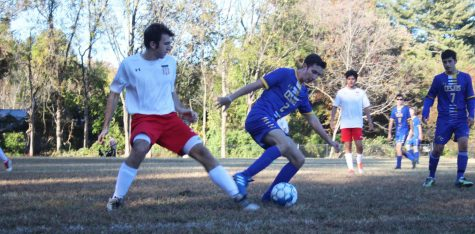 Spirited boys varsity soccer team loses final home game on senior night to Waldorf