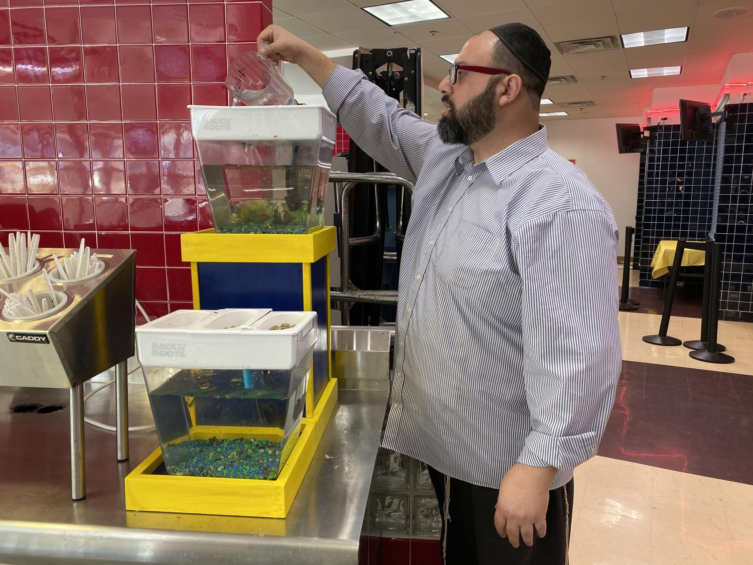 The cafeteria has been using aquaponics to make its produce, infusing STEM into the daily lives of JDS students who enter the lunch line each day.