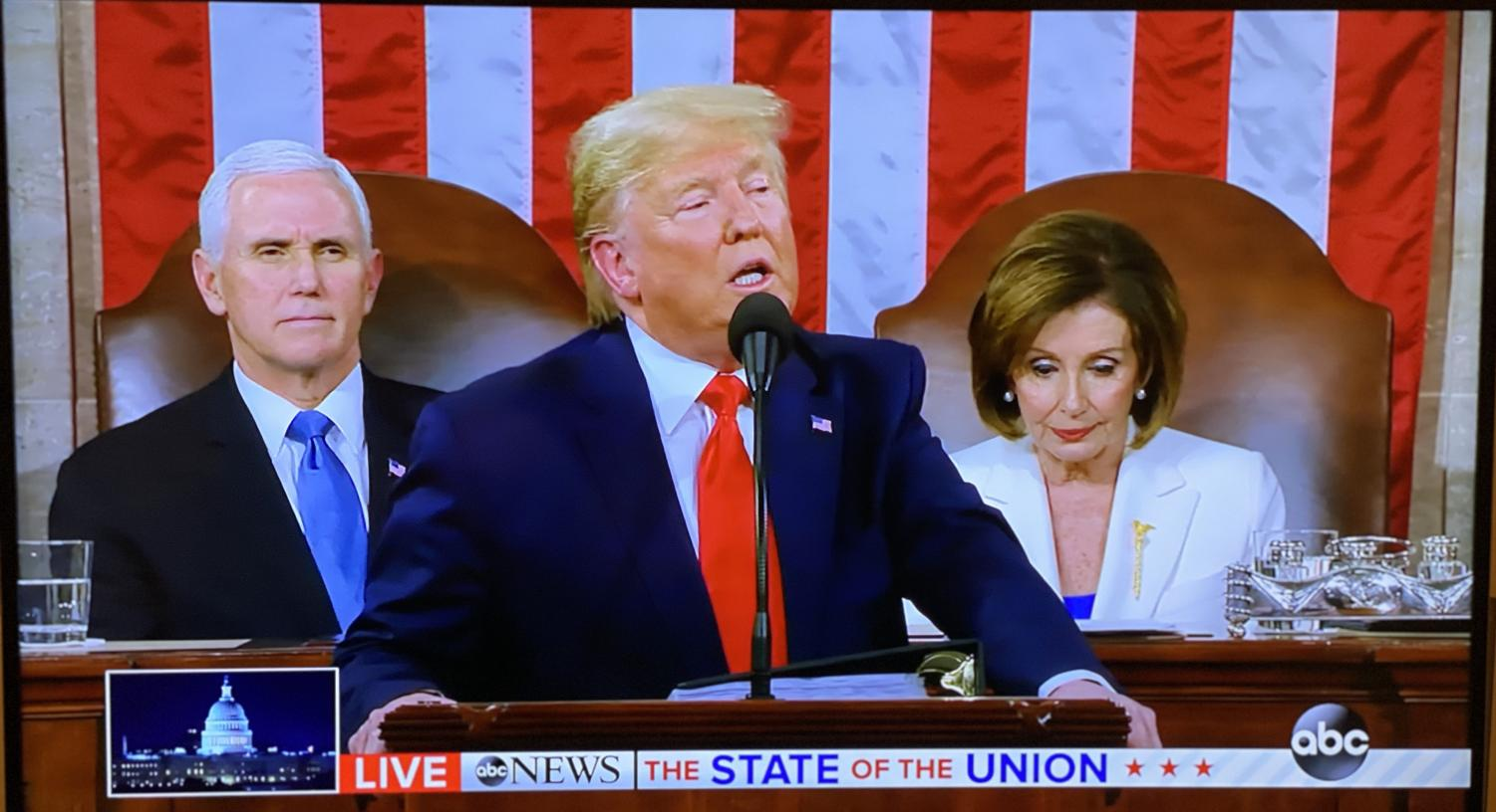 President Donald J. Trump delivers his third State of the Union address before the U.S. Congress on Tuesday.