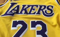 Lakers star Lebron James's jersey, which has been number 23 for most of his career.