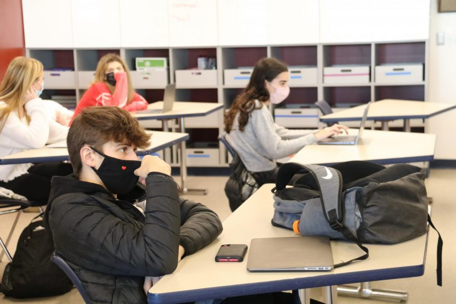High school students return to in-person learning