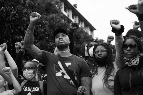 Portland Trail Blazers star Damian Lillard took part in protests of police brutality over the summer.