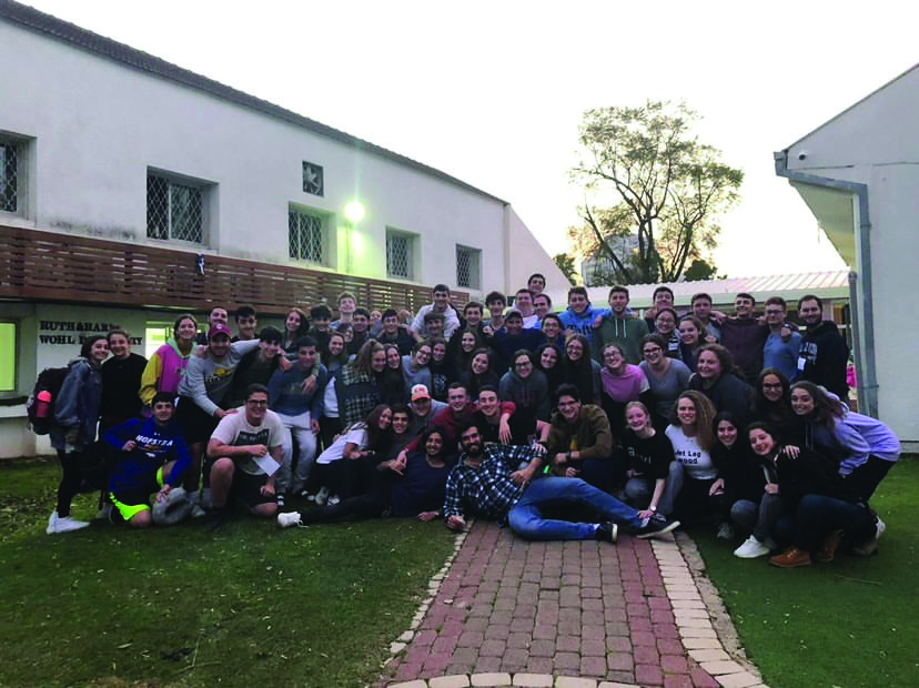 The Class of 2020 and their counselors in Israel last year before they got sent home due to the outbreak of COVID-19.