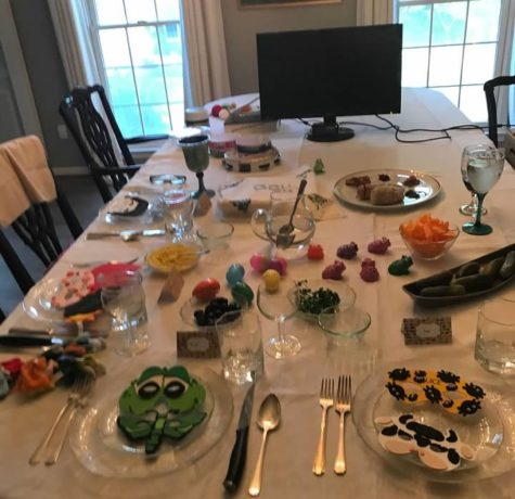 For many families this year, the seder table is not complete without a computer for Zoom.