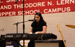 Freshman Shiri Cohen performs her original song