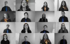 CESJDS' premier a cappella choir Shir Madness performs at Kolot Hayam, a Jewish high school choir showcase.
