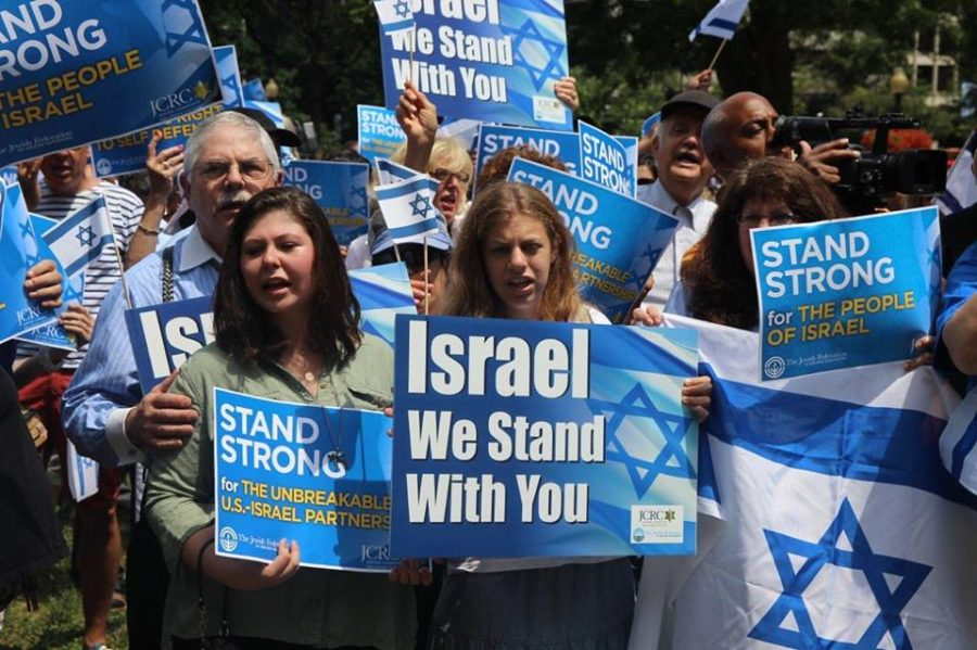 Jews+gather+in+support+of+Israel.+