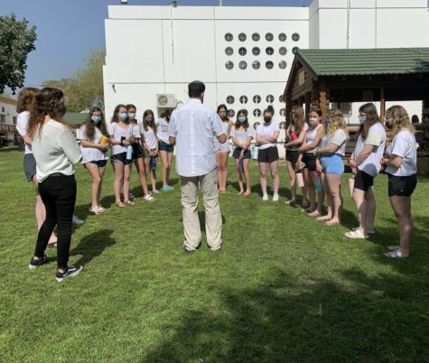The Class of 2021 participates in Holocaust Memorial Day programming during their trip to Israel this past spring.